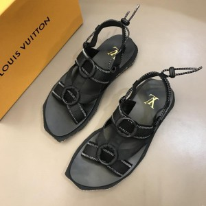 Louis Vuitton Black Sandal With yellow canvas MS02809 Updated in 2019.04.19