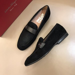 Salvatore Ferragamo Black Suede leather Loafers MS02974 Updated in 2019.04.19