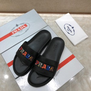 Prada Slippers with colorful letter MS071229 Updated in 2019.04.27