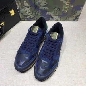 Valentino Sneakers Blue and camouflage stars detail with white sole MS071433 Updated in 2019.04.27