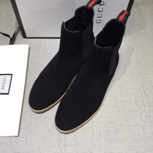 Gucci Chelsea Caligoula black leather Boots GC0807463 Updated in 2019.04.27