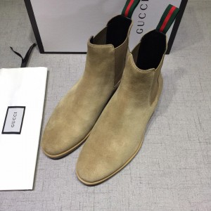 Gucci Chelsea Caligoula brown leather Boots MS07464 Updated in 2019.04.27
