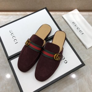 Gucci Brown Princetown Slipper with double G MS07515 Updated in 2019.04.27