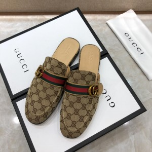 Gucci brown Princetown Slipper with double G MS07518 Updated in 2019.04.27