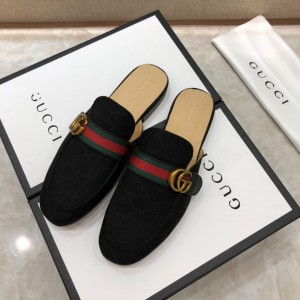 Gucci black Princetown Slipper with double G MS07519 Updated in 2019.04.27