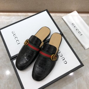 Gucci black Princetown Slipper with double G MS07520 Updated in 2019.04.27