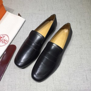 Hermes Black Bringht Leather Loafers MS07800 Updated in 2019.04.27