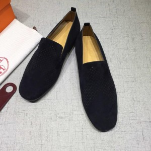 Hermes Black Suede leather Loafers MS07801 Updated in 2019.04.27