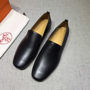 Hermes Black leather Loafers MS07802 Updated in 2019.04.27