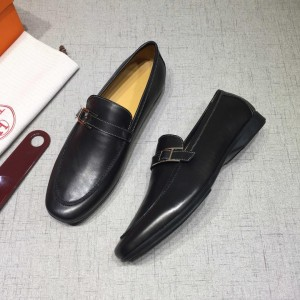 Hermes Black leather Loafers MS07805 Updated in 2019.04.27