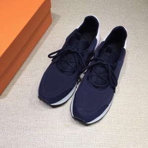 Hermes Sneakers  Blue and White heel MS07814 Updated in 2019.04.27