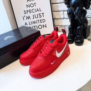 Nike Air Force 1 '07 LV8 Utility Red/White Low AF1 MS09121 Updated in 2019.03.26