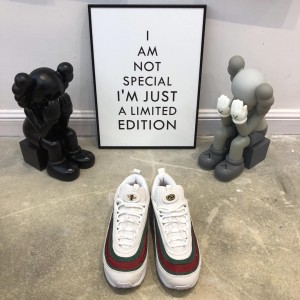 Custom Gucci x Nike Air Max 1/97 Hybrid White/Red/Green MS09168 Updated in 2019.03.26