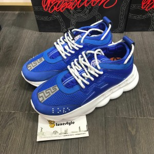 Versace Sneakers Blue and white laces with white rubber sole MS09317 Updated in 2019.09.25