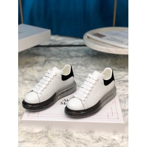 Alexander McQueen Sneaker  White and black suede heel with transparent sole MS100019 Updated in 2019.09.17