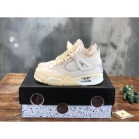 "Air Jordan 4 x OFF-WHITE ""Sail""SPWMNS MS120398 Sneaker Updated in 2020.12.21"