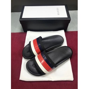 Gucci Strap Rubber Slide Sandal with Sylvie Web OF_4DD888345DC1