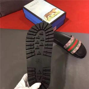 Gucci Double G Print with Stripes Sandals OF_FED0B857DC95