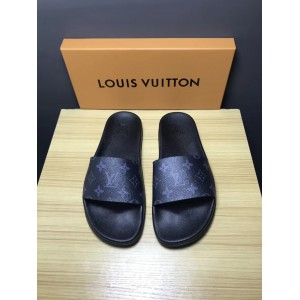 Louis Vuitton Palm Slippers in Balck OF_86736F48C709
