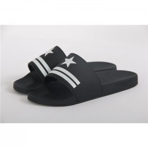 Givenchy Star & Stripe Rubber Slide Sandals In Black SN_0C8F6303C2A7
