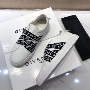 Givenchy White Sneakers With Black 'Givenchy' Prints Lace MS09310 Updated in 2019.08.14